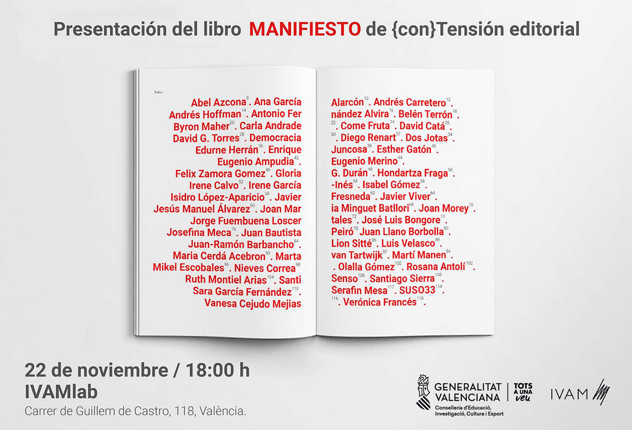 Presentación del libro MANIFIESTO de {con}Tensión editorial